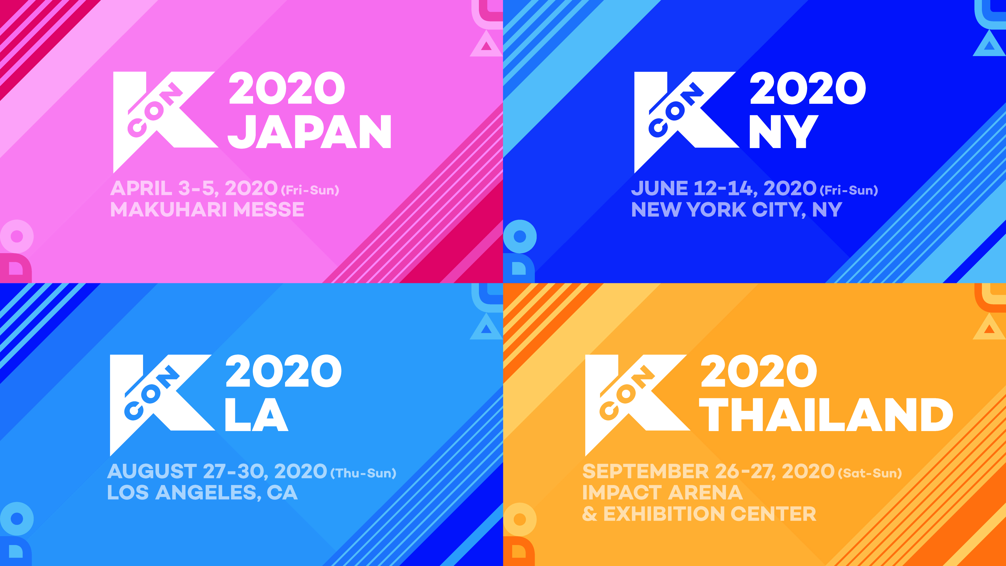 CJ ENM 主催 世界最大級の K Culture フェスティバル『 KCON 2020 』4 月に日本幕張メッセ、6 月・8月にアメリカ(NY、LA)、9 月にタイ(バンコク)で開催決定‼